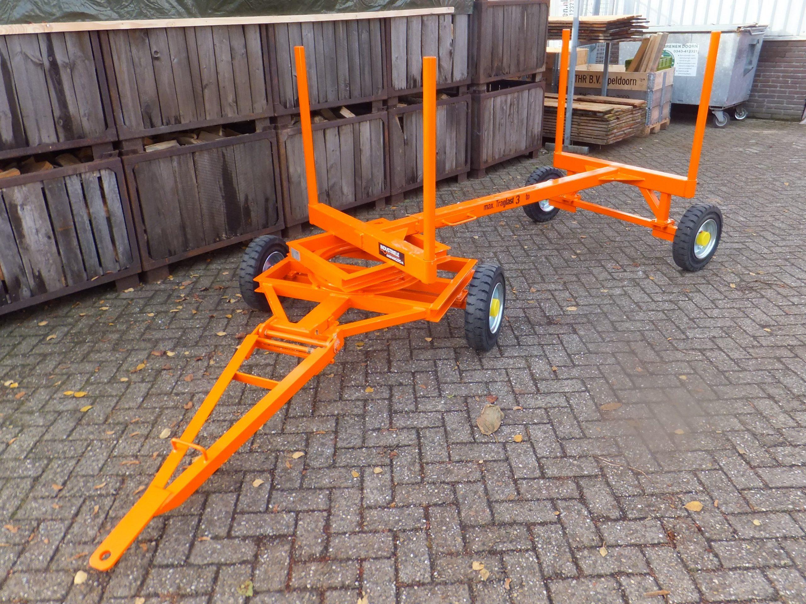Langmateriaalwagen of houtkar